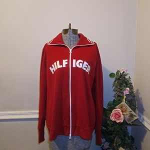 EUC 2002 Tommy Hilfiger Red & White Track Jacket